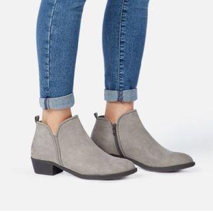 ShoeDazzle Grey Desert Reverie Ankle Booties